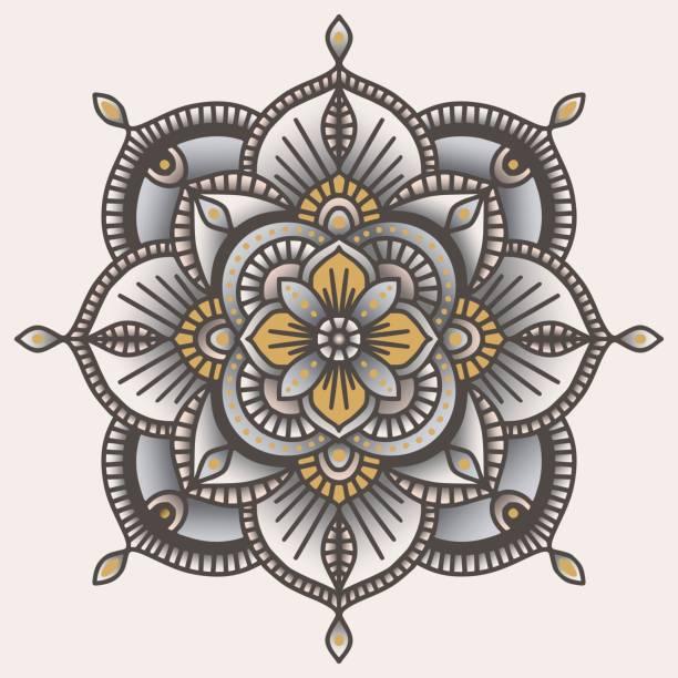 Colorful ornamental floral ethnic mandala, vector illustration vector art illustration