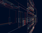 colorful ornate line structure background