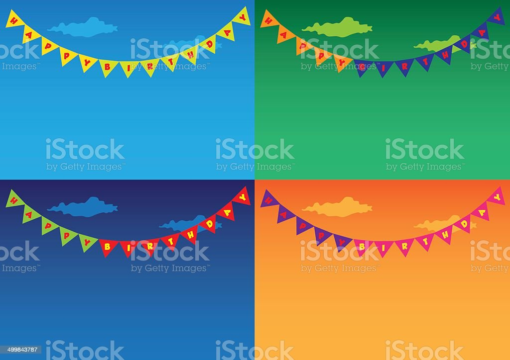 Colorful Outdoor bunting and garland sets vector art illustration