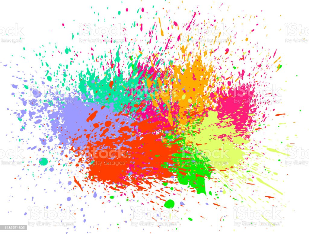 Colorful Paint Splash Stock Illustration - Download Image Now - iStock