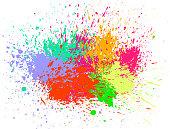 colorful paint splash holi celebration