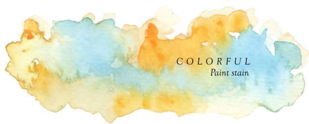 illustrations, cliparts, dessins animés et icônes de tache colorée de peinture - fond aquarelle