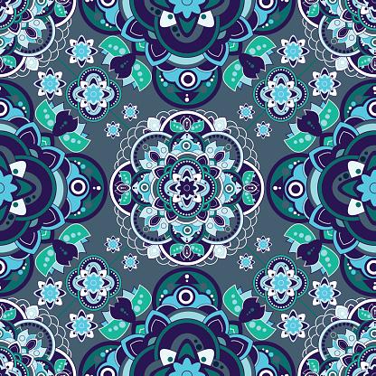 Ilustración De Colorful Paisley Seamless Pattern Indian Ornamental Wallpaper Y Más Vectores Libres De Derechos De Abstracto