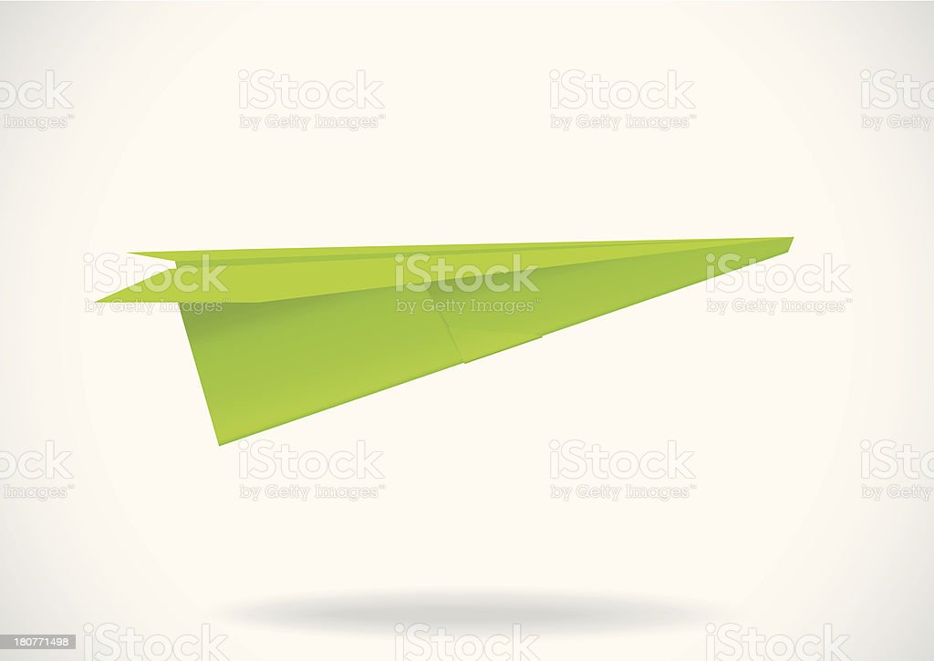 Colorful paper airplane royalty-free stock vector art