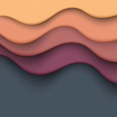 Vector illustration of a colorful paper art and fluid abstract background