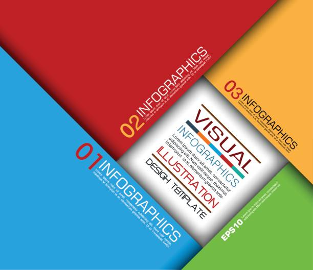 farbiges papier geometrische infografiken in kamera blende-stil - palettenbilderrahmen stock-grafiken, -clipart, -cartoons und -symbole