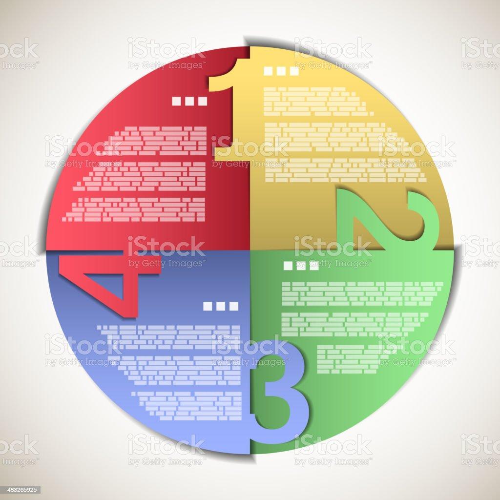 Bunte Papier Fortschritt circle Lizenzfreies bunte papier fortschritt circle stock vektor art und mehr bilder von abstrakt