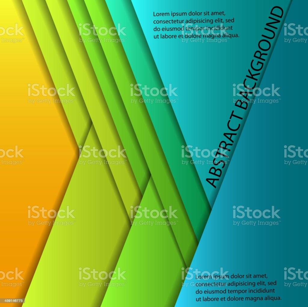 colorful paper sheets royalty-free stock vector art