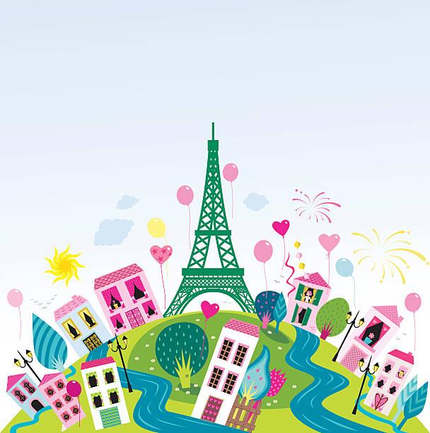Bunte Paris – Vektorgrafik