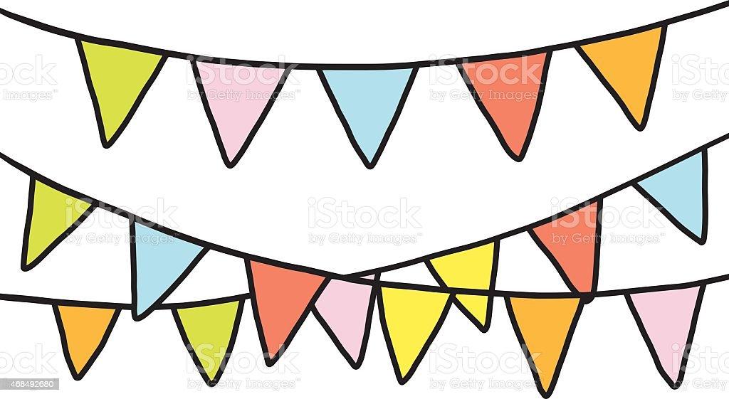 Banderas fiesta colorido - ilustración de arte vectorial