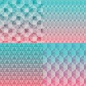 Colorful patter backgorund set