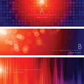 Vector of colorful background banner set with transparency pattern design.