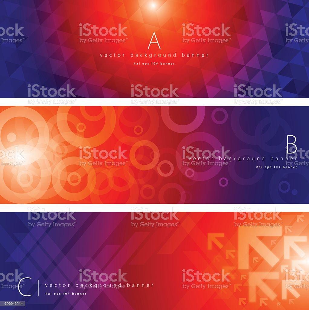 Colorful pattern background banner set vector art illustration
