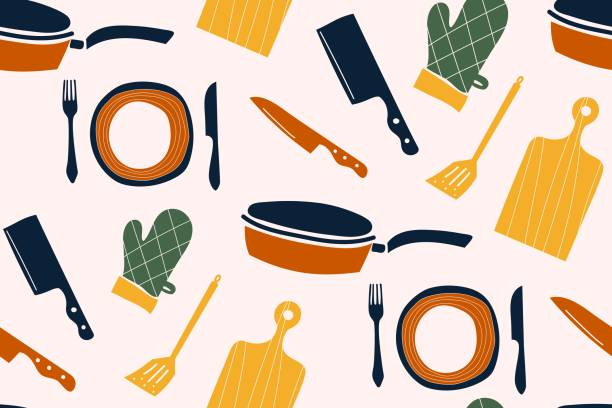Colorful pattern sets of icon for cooking and dinning Colorful pattern sets of icon for cooking and dinning, create by vector. cooking designs stock illustrations