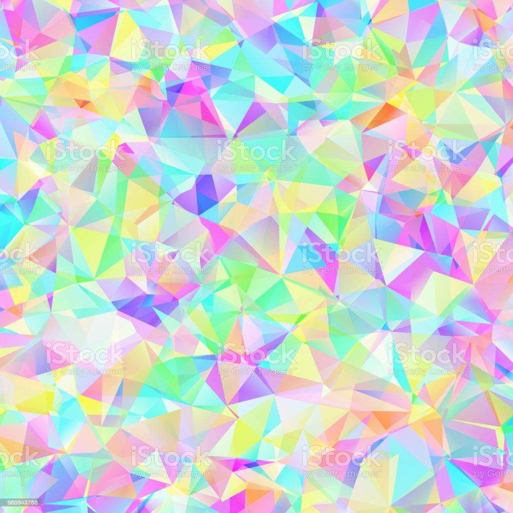Kleurrijke patroon met chaotische driehoeken - Royalty-free Abstract vectorkunst