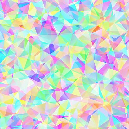 Kleurrijke Patroon Met Chaotische Driehoeken Stockvectorkunst en meer beelden van Abstract