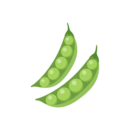 Colorful peas clipart cartoon. Peas vector illustration.