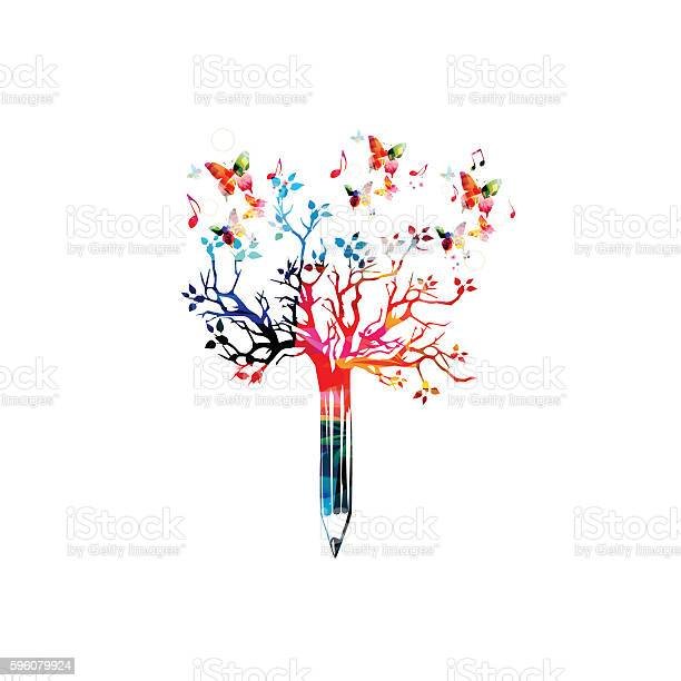 Colorful pencil tree vector illustration with butterflies vector id596079924?b=1&k=6&m=596079924&s=612x612&h=lz7pephdbxmbamhyeupukxverzp7ty4o7i2u9bnu9ng=