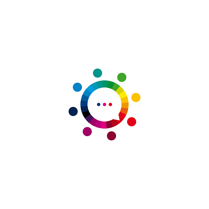 Colorful People Beat logo vector, Community logo designs template, design concept, logo, logotype element for template