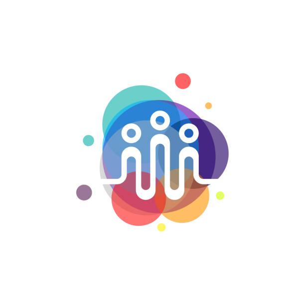 kolorowy wektor beat osób, szablon wzorów społeczności, koncepcja projektu, element tekstowy szablonu - grupa przedmiotów stock illustrations