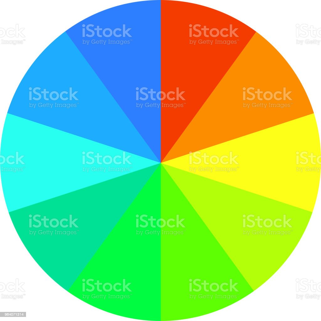 Colorful Pie chart Divided into eight - Royalty-free Abstract stock vector