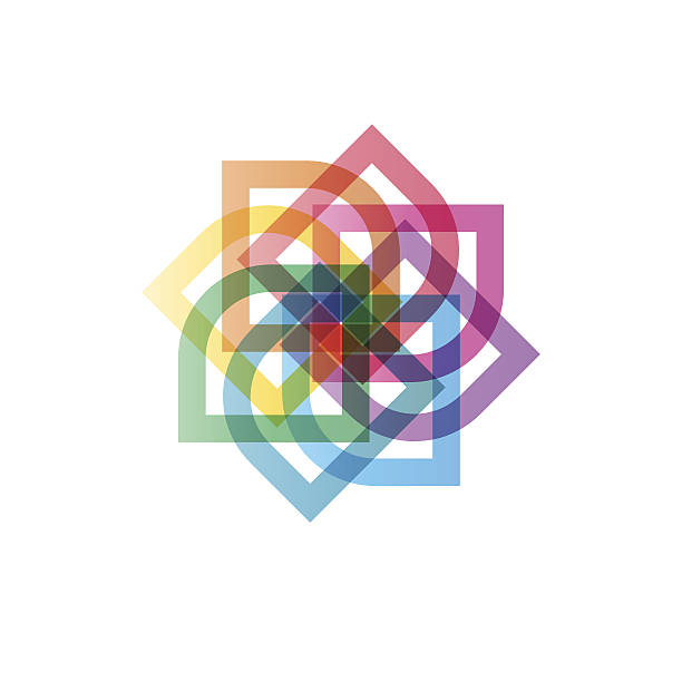 Colorful pin wheel vector art illustration