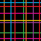 Vector colorful plaid seamless pattern.