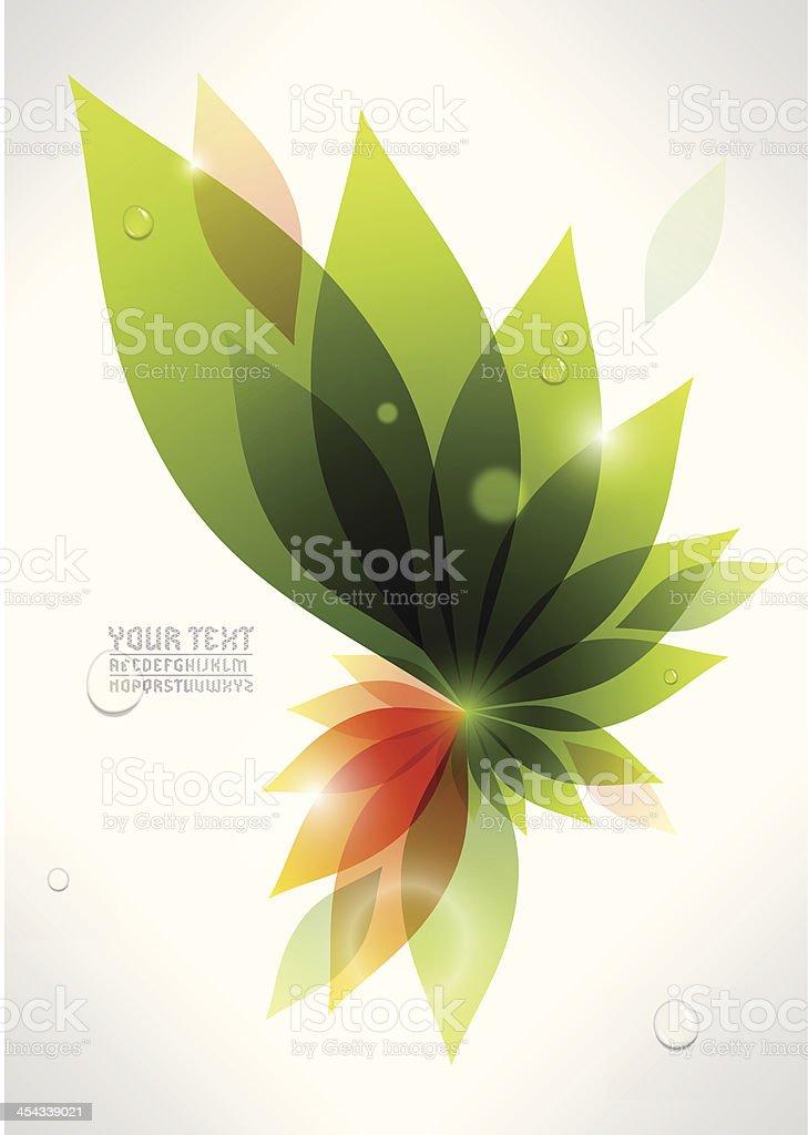Bunte pflanzliche Hintergrund – Vektorgrafik