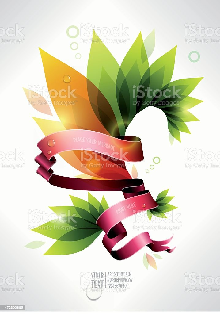 colorful plant banner royalty-free stock vector art