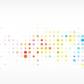 abstract colorful polka dot pattern background for design