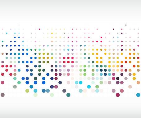 colorful polka dot pattern background