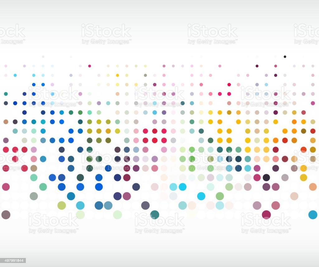 Patrón de lunares coloridos fondo de - ilustración de arte vectorial