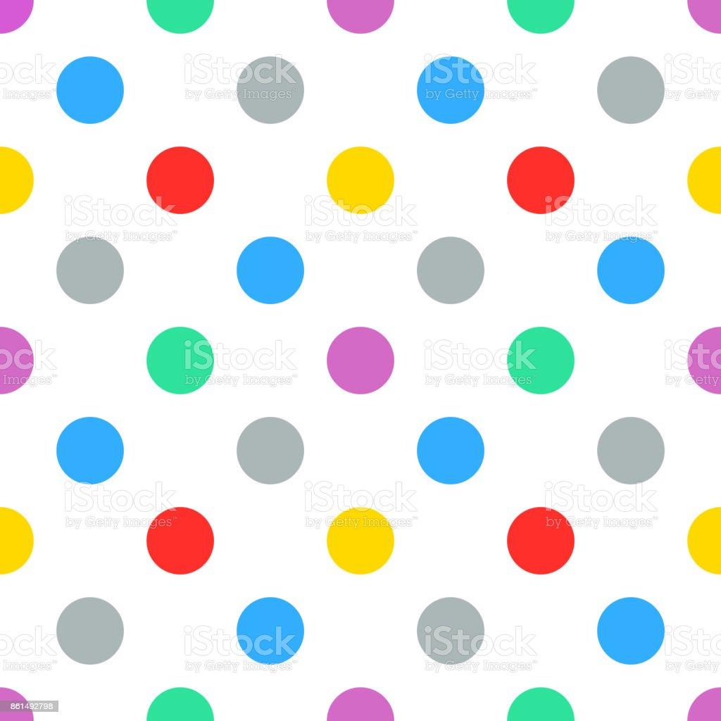colorful polkadot pattern seamless background stock vector art rh istockphoto com