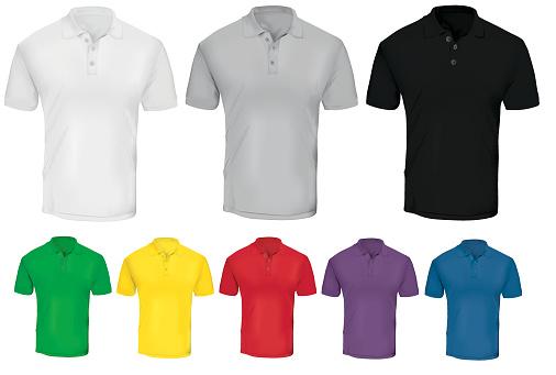 Colorful Polo Shirt Template