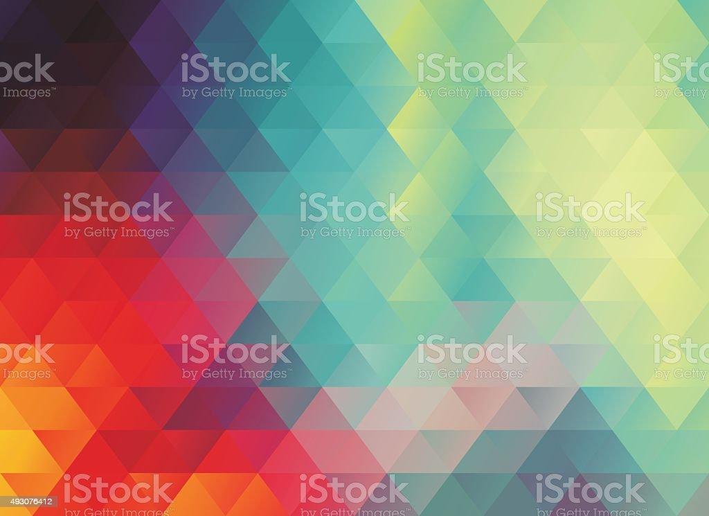 多角形のカラフルな抽象的な背景 ベクターアートイラスト