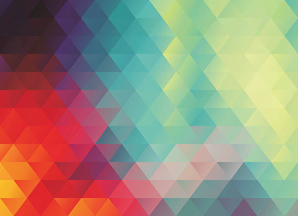 colorful polygonal abstract background - polygon background stock illustrations