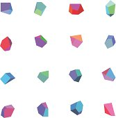 Vector Illustration of Colorful Polygonal Abstract with transparency in eps10