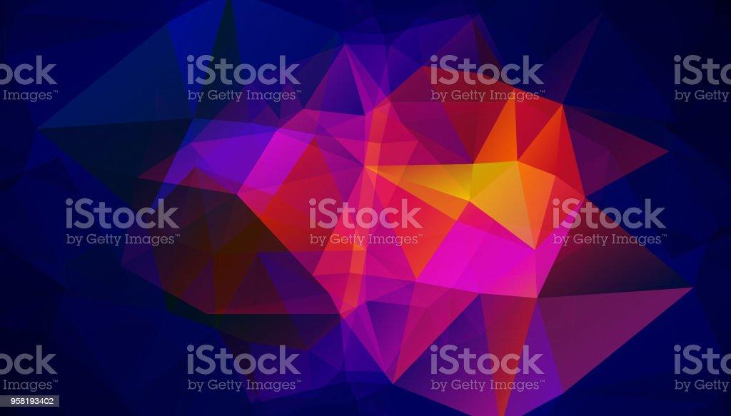 Colorful polygonal background for poster design vector art illustration