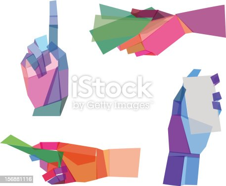 Colorful  Polygonal Hands