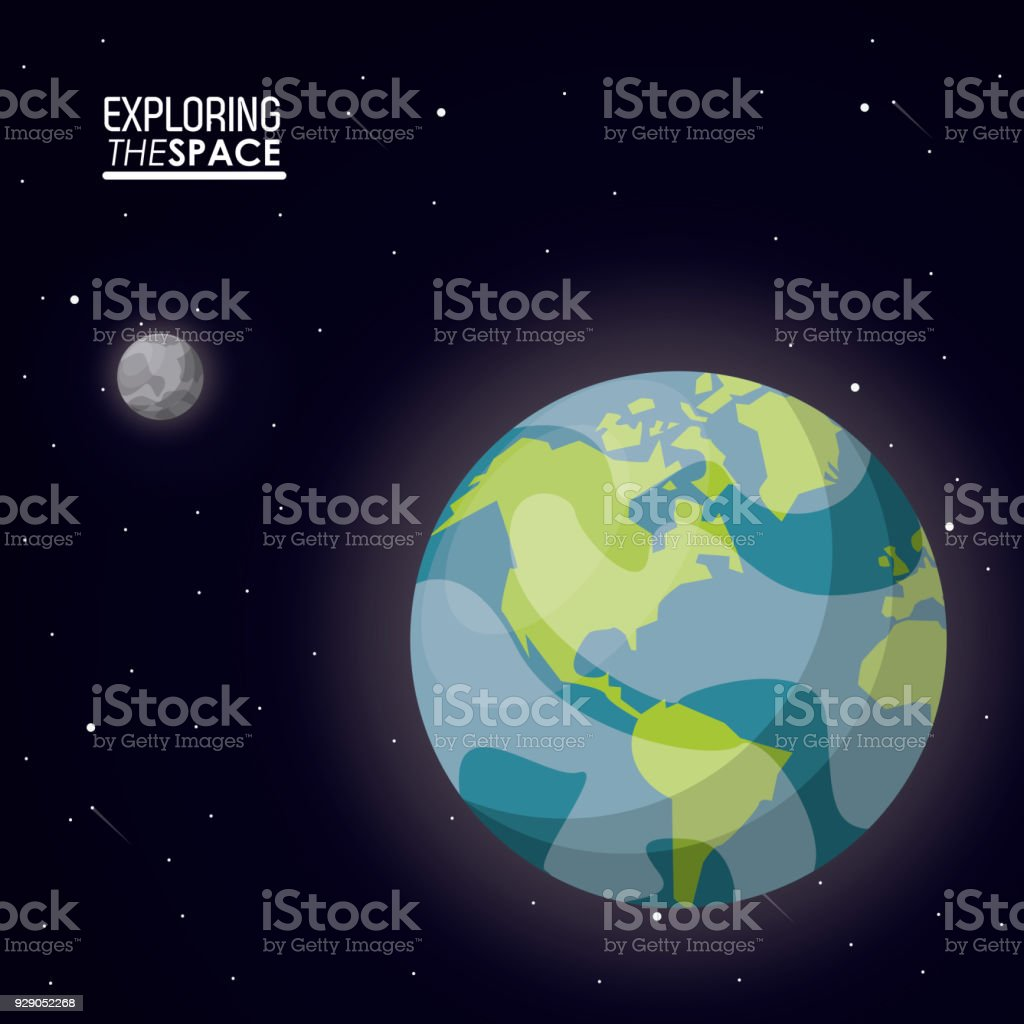 Small earth diagrams data wiring diagrams colorful poster exploring the space with planet earth and small moon rh istockphoto com planet earth diagram earth interior diagram ccuart Images