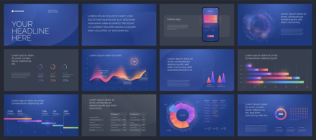 Colorful presentation templates elements. Vector infographics. Eps 10.