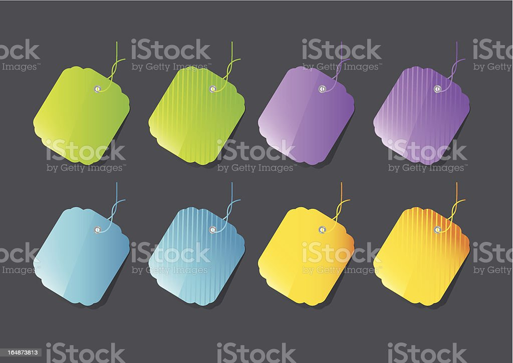 Colorful price tags royalty-free stock vector art
