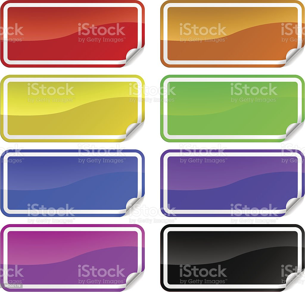 Colorful promotional stickers royalty-free colorful promotional stickers stock vector art & more images of advertisement