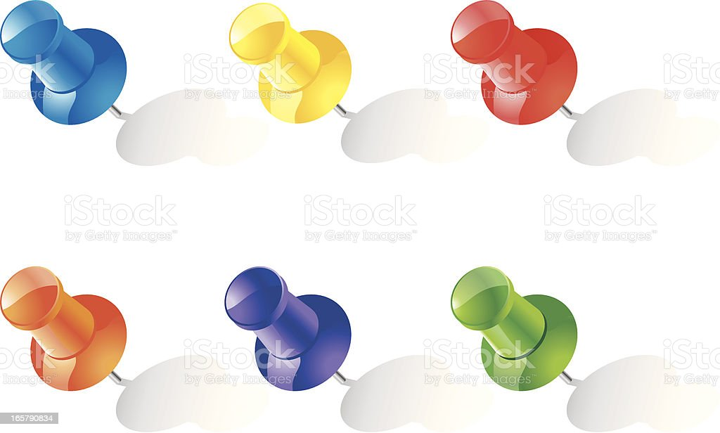 Colorful Push pin royalty-free colorful push pin stock vector art & more images of concepts