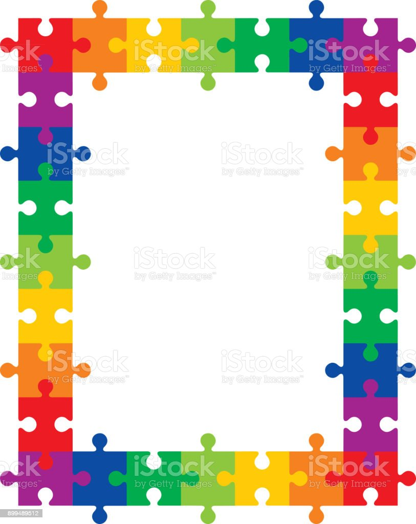 Colorful Puzzle Frame Stock Vector Art & More Images of Award ...