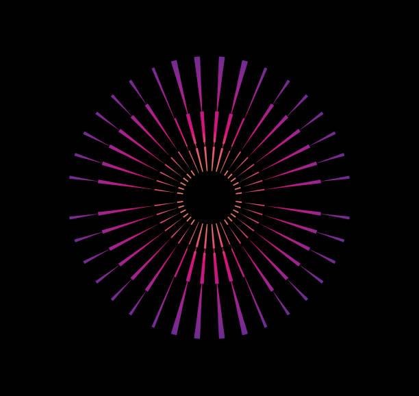 カラフルな放射状対称バースト デザイン要素 - 光 黒背景点のイラスト素材/クリップアート素材/マンガ素材/アイコン素材