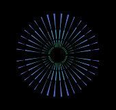 Line art Radial Symmetrical Burst Design Element