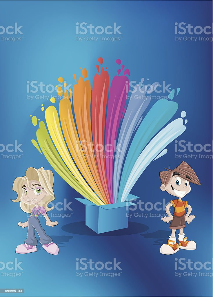 colorful rainbow lights royalty-free stock vector art