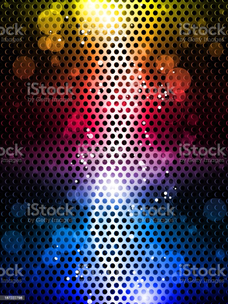 Colorful Rainbow Neon Party Background royalty-free stock vector art