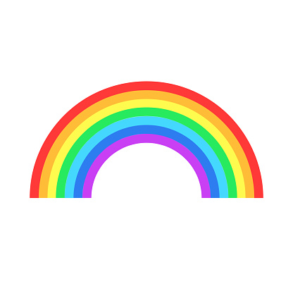 Colorful rainbow or color spectrum flat icon for apps and websites